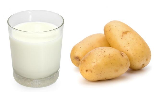 mặt nạ khoai tây sữa tươi