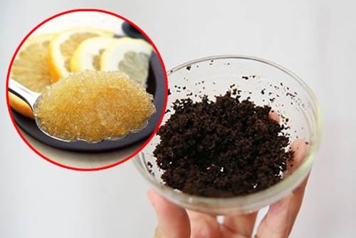 Tẩy da chết bằng cafe và đường nâu