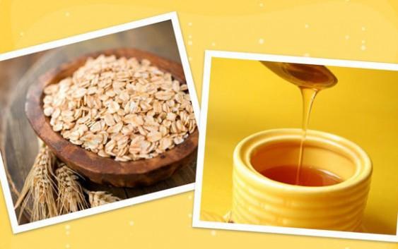 Tẩy da chết bằng bột yến mạch và mật ong