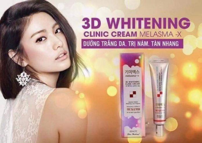 Ưu điểm của kem trị nám 3D Whitening Clinic Cream